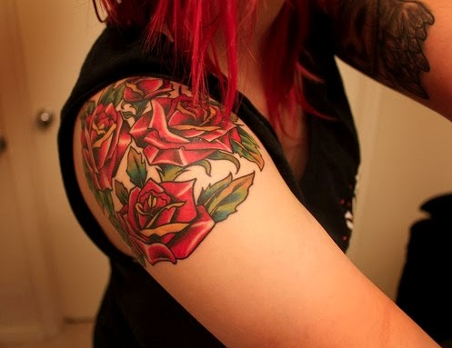 Stunning Rose Tattoos For Women