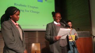 Samika of Global Generation reading her poem on nature