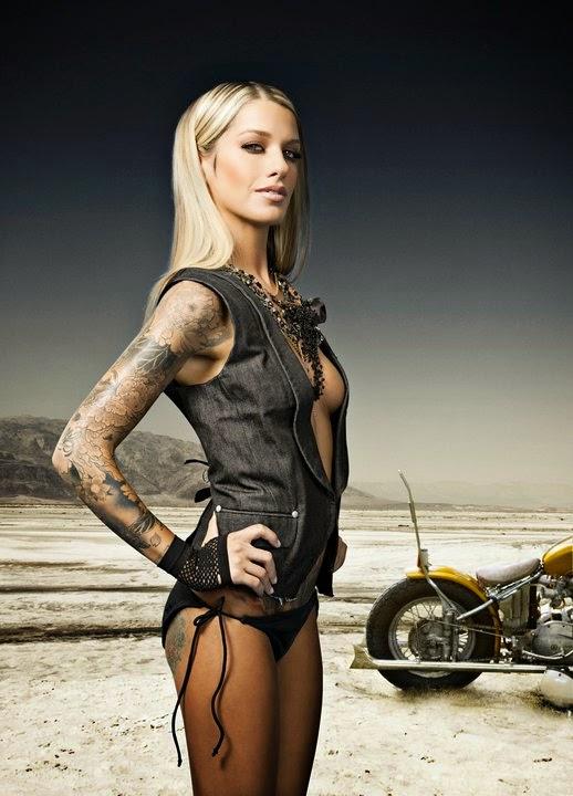 Inked Girl Hd Wallpaper Mercenary Garage Jesse Lee Denning