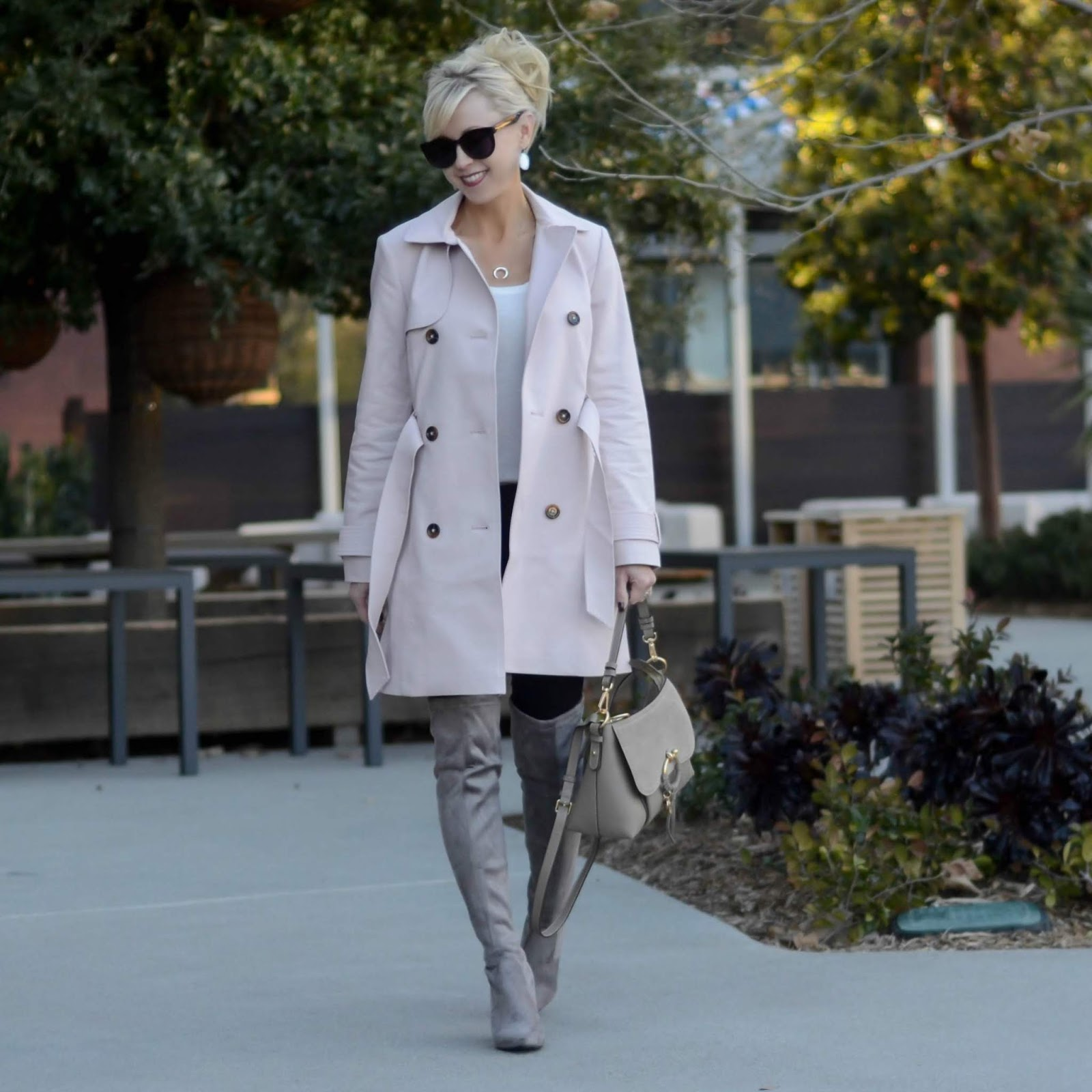 3cc7a6f3e Pink Trench Coat + Friday Favorites | On the Daily E X P R E S S ...