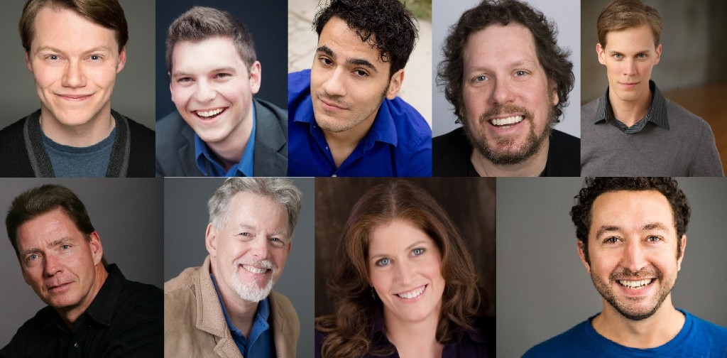 Top row left-right: Nate Strain, Jacob Fjare, Frank Gasparro, Edward  Kuffert, Erik Pearson. Bottom row left-right: Scott Phelps, Bob Sanders,  Elizabeth Rude ...