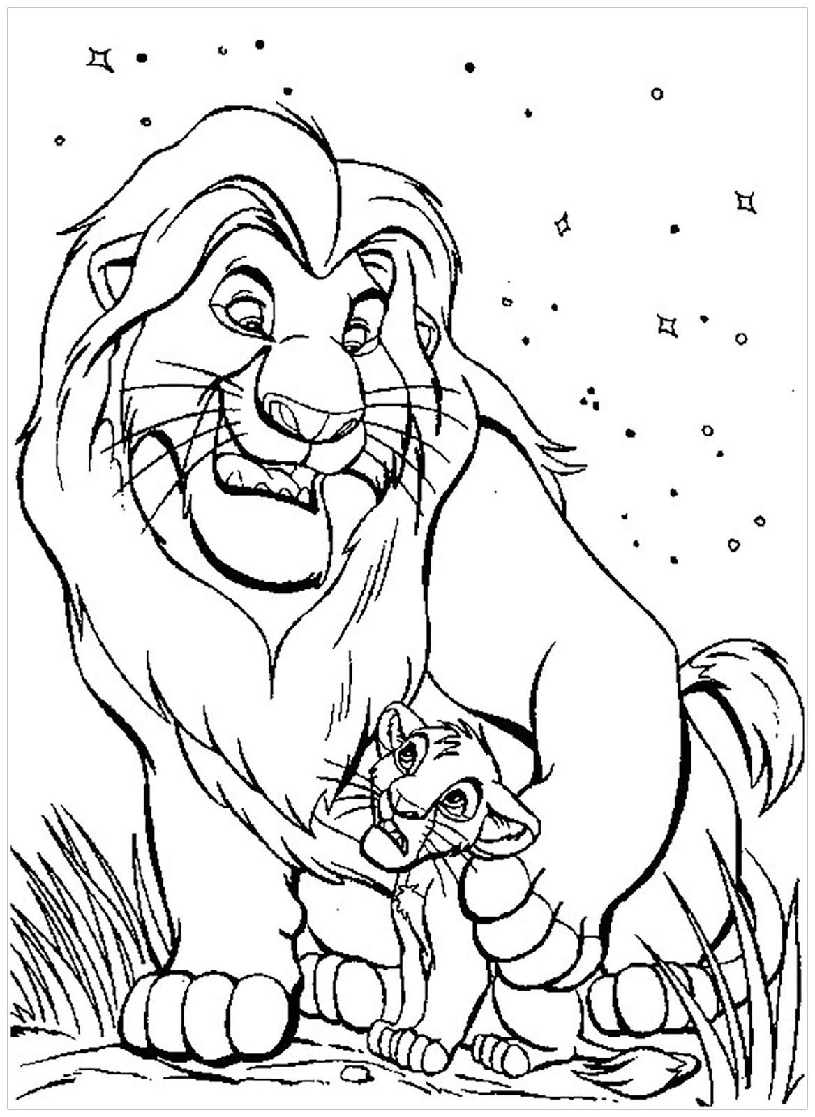 Tranh tô màu vua sư tử 16