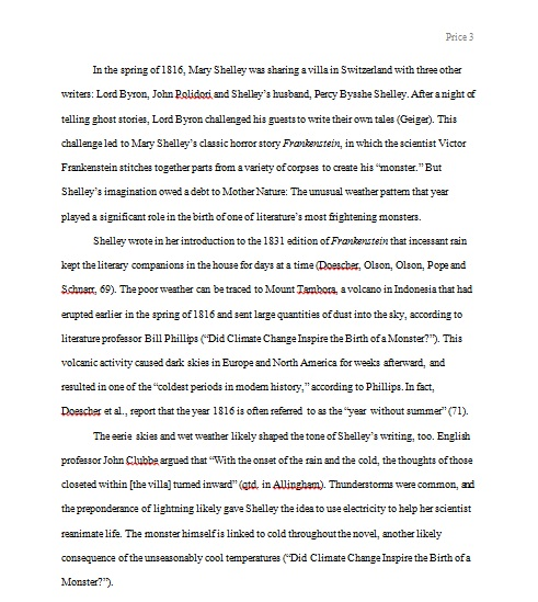 Frankenstein essay on the creature