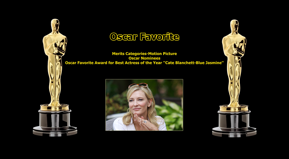 oscar favorite best actress award cate blanchett blue jasmine