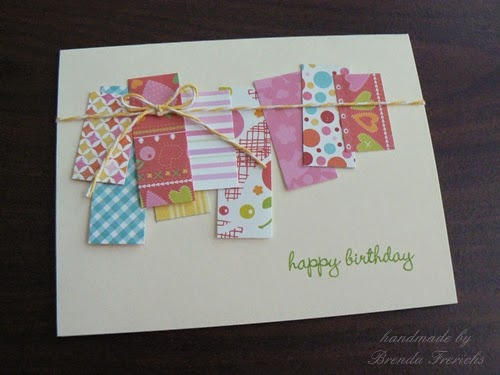 Crafting With Joanie: Simple Girl Birthday Card Using Scraps