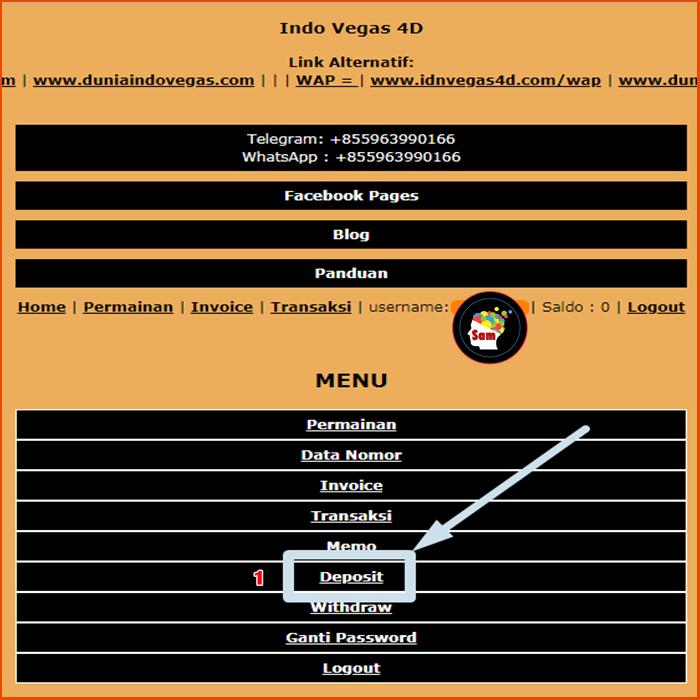 Panduan Deposit IndoVegas4D