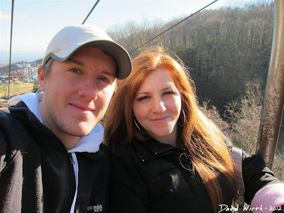 riding the chair lift up to ober tennessee, gatlinburg