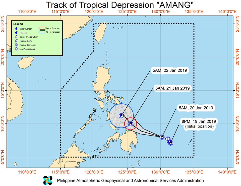 'Bagyong Amang' track PAGASA weather update January 20, 2019