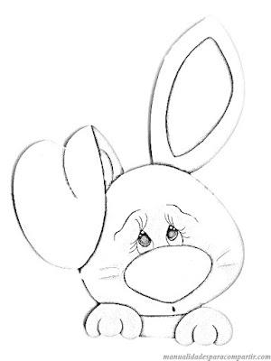 Conejitos de Pascua en Goma Eva Fácil de hacer. Molde de Conejo de Pascua.