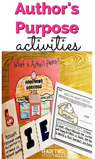 Author's Purpose | ideas for school | Pinterest | Purpose, School ...