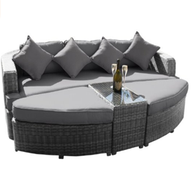 Maze Rattan Toronto Outdoor Daybed Grey