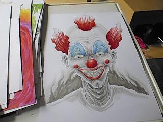 killer klown artwork wip