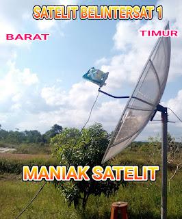Cara Tracking Satelit BELINTERSAT 1