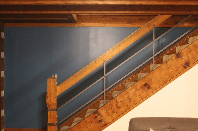 log-home-turquoise-wall-sherwin-williams-great-falls