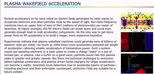 How Plasma Wakefield technology can increase linear accelerator energy by 1000 times (Source: www.slac.stanford.edu)