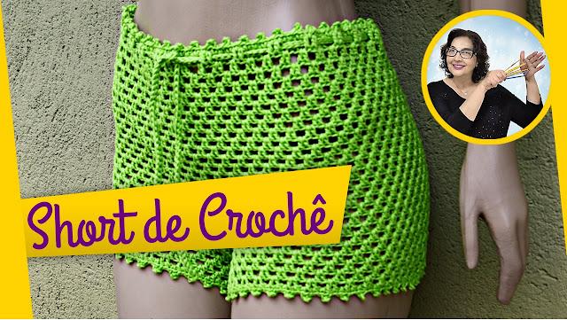 Edinir Croche ensina short de crochê passo a passo como fazer do jeito certo