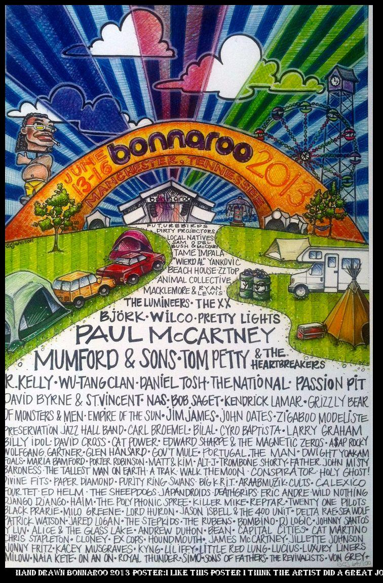 promo code 2c266 e0838 ... slip-on (men) Hand Drawn Bonnaroo 2013 Poster I like this poster I  think the artist did a great job nailing Bonnaroo but the colors could pop  a bit more