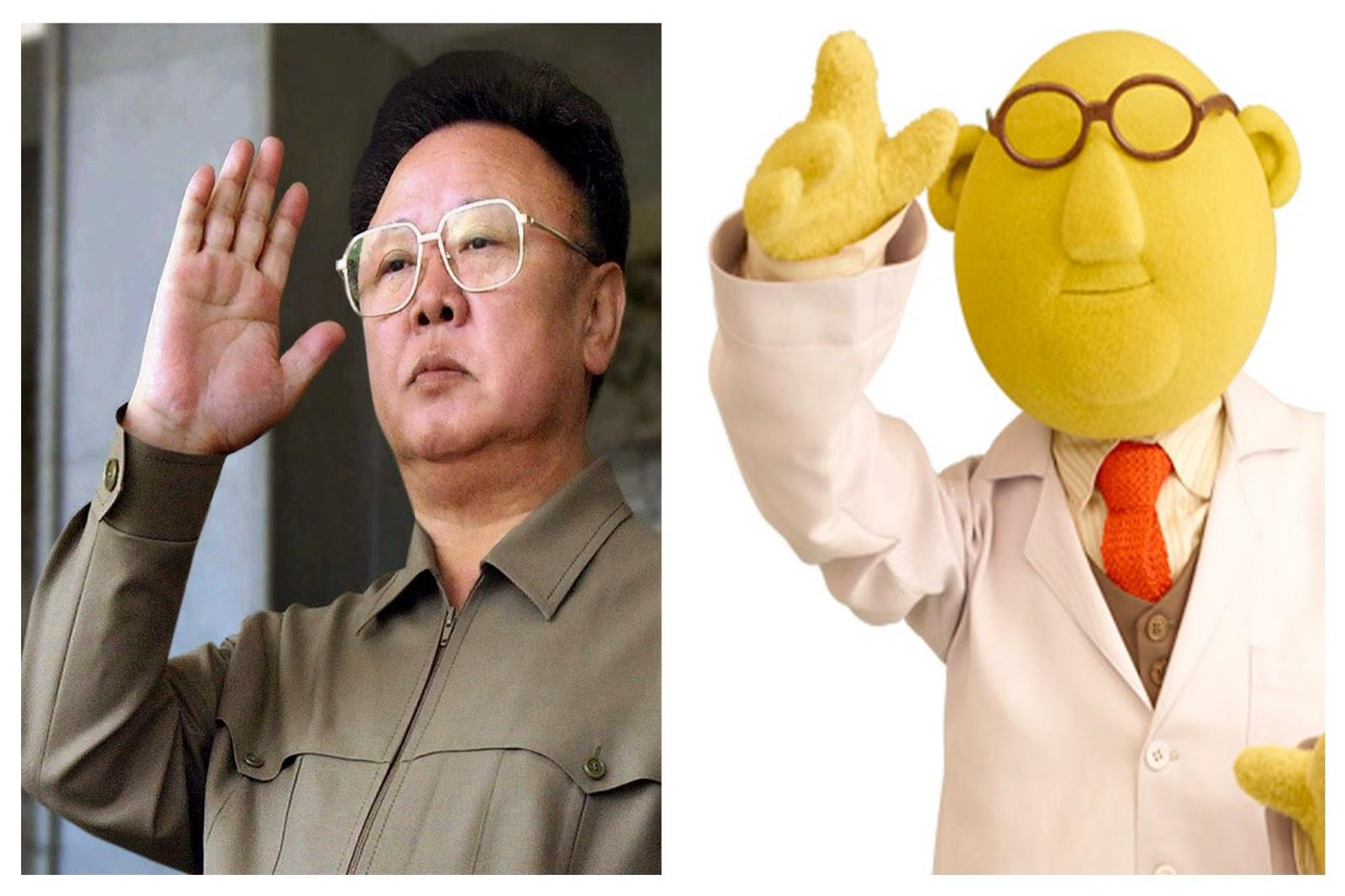 Celebrity Cartoon Copy: Kim Jong-Il & Dr  Bunsen Honeydew