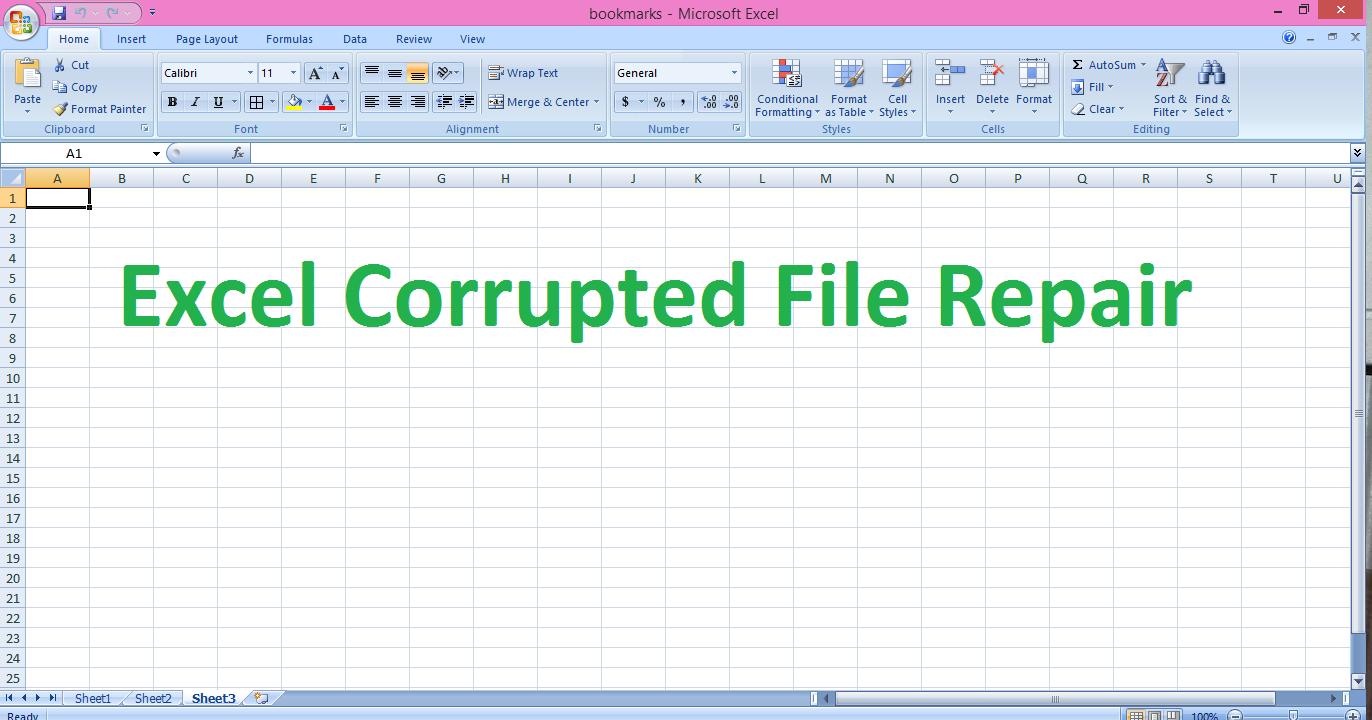 Excel workbook corruption detection, recovery & repair ~ Repair Ms ...