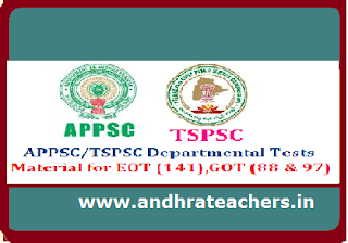 AP Departmental Tests Material for EOT & GOT Paper Codes: 88 ,97 and 141