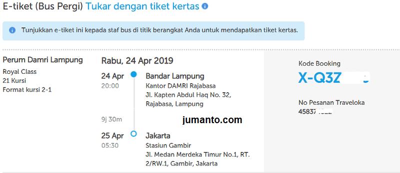 Pengalaman Cara Memesan Tiket Bus Damri Di Traveloka, Bisa Reschedule kah