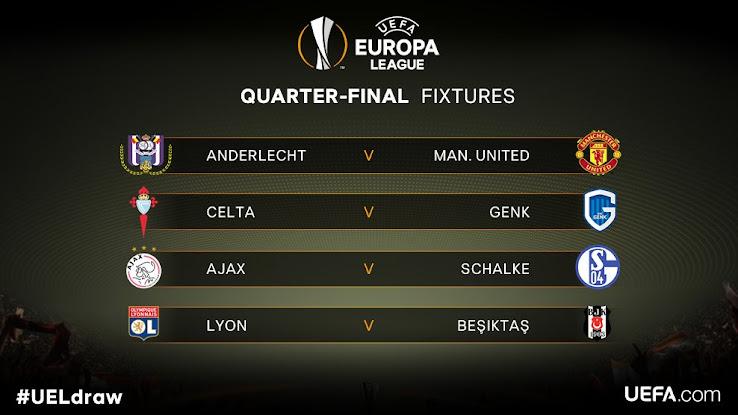 Champions League Europa League Quarter Finals Draw Footy Headlines