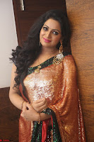 Udaya Bhanu lookssizzling in a Saree Choli at Gautam Nanda music launchi ~ Exclusive Celebrities Galleries 089.JPG