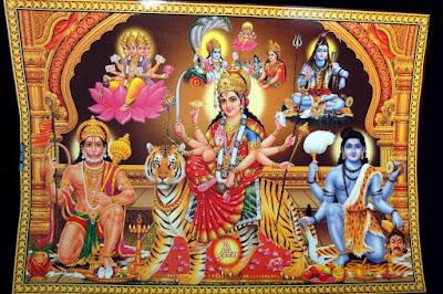 hd images of maa durga with shri hanuman ji