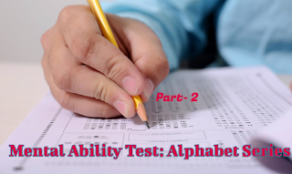 Alphabet Series Reasoning Online Test |Online Mental Ability(MAT) Test | Part-2