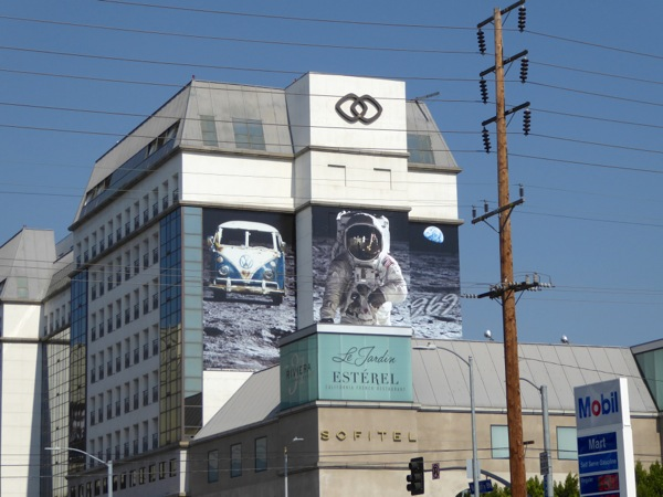 Giant VW Moon Astronaut 1969 billboard