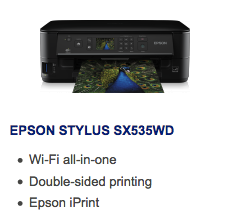 Epson Stylus SX535WD Driver Download