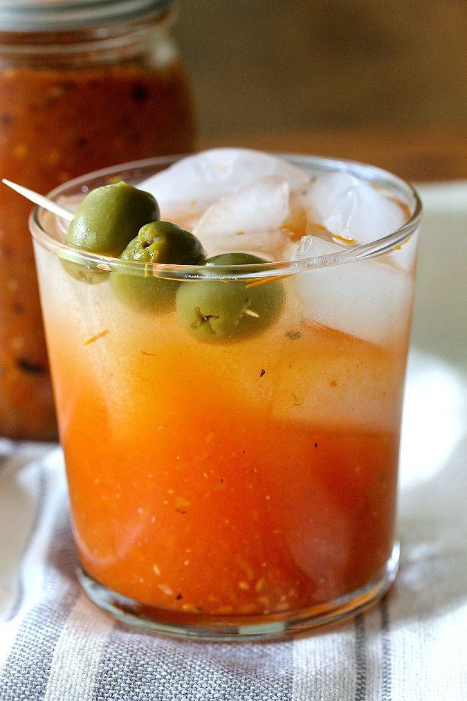 Canned tomato bloody Mary mix