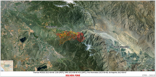 SILVER FIRE RIVERSIDE COUNTY IMAGE PERIMETER MAP