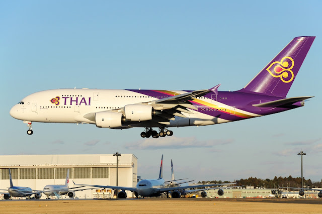 Thai Airways Airbus A380-800 Approaching Low Level Altitude