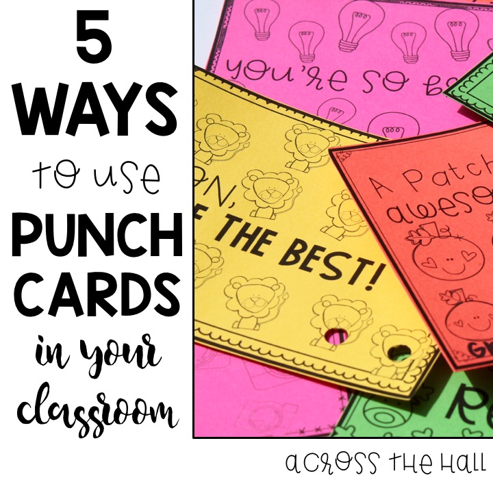 Across the Hall in 2nd 5 Ways I Use Punch Cards in My Classroom - punch cards
