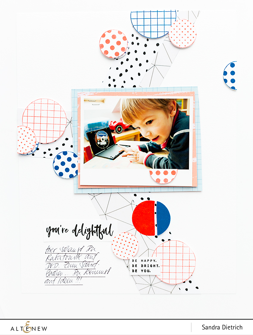 Altenew   February 2019 Stamp and Die Release Blog Hop Scrapbook Layout