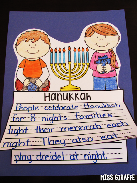 Hanukkah writing craft activity and other fun Christmas around the world ideas
