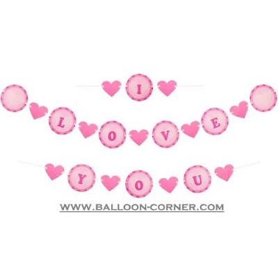 Bunting Banner I LOVE YOU
