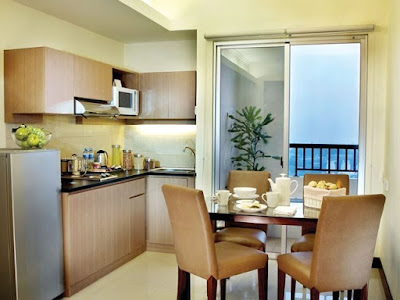 two bedroom superior kitchen and dining