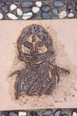Brass engraving, Truku women, Taroko National Park, Taiwan