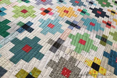 Modern Mystery' quilt through Tikki London,  quilted by Frances Meredith at Fabadashery Longarm Quilting