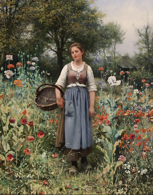 Entre Papoilas - Daniel Ridgway Knight e suas mais belas pinturas