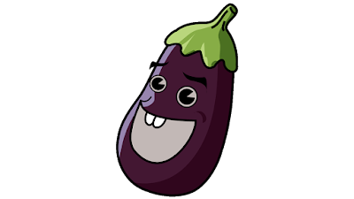 eggplant cartoon clipart