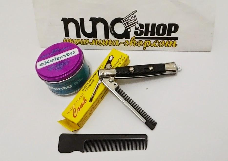 Paket Hemat Pomade Murray's Exelento + Switchblade Comb