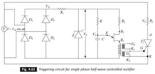 UJT-Synchronized UJT triggering Circuit - Electrical engineering