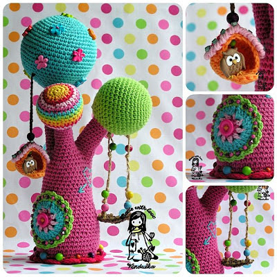Crochet tree by Vendula Maderska