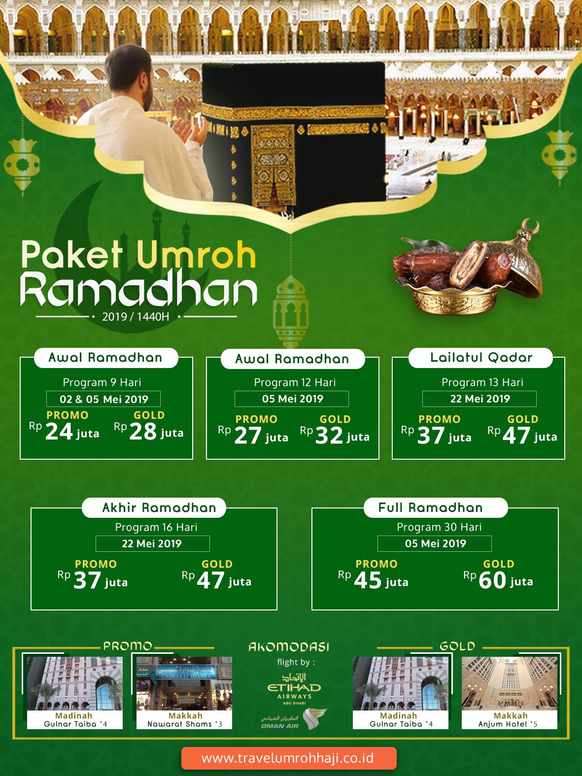 Jadwal Umroh Ramadhan 2019 Biaya Paket Murah ada Promo