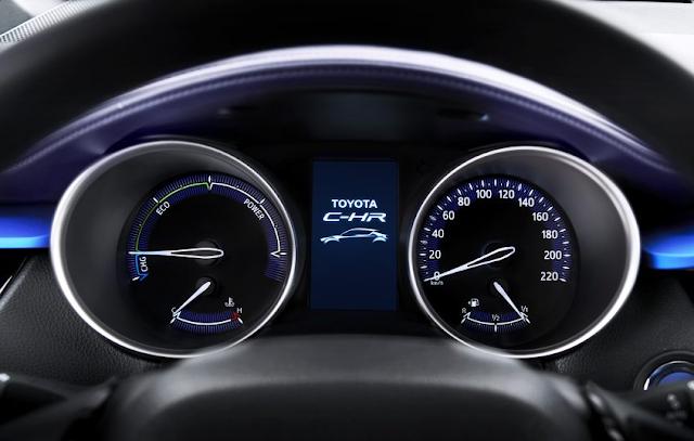 Gambar Speedometer - MID Toyota C-HR 2017