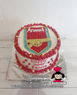 Kue Tart Buttercream Logo Arsenal