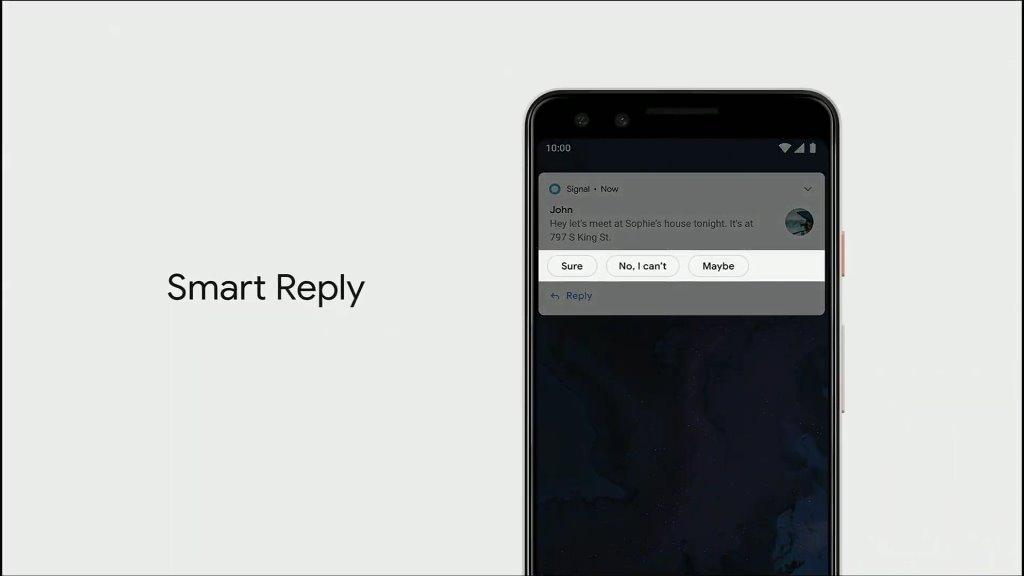 8 Fitur Terbaik Yang Dihadirkan Di Android Q Sejauh Ini - Smart Reply